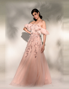 """""""Daviana""""-Crinkled-Tulle-Gown-With-Zardozi-Embroidery-And-Feather-Details_Dolly-J-_Treniq_0"""
